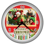 christmas - Wall Clock (Silver)