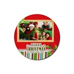 christmas - Rubber Coaster (Round)