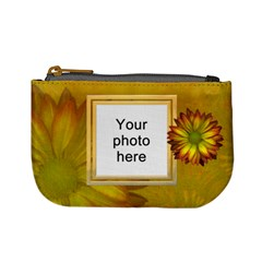 Yellow Daisy Mini Coin Purse By Lil    Mini Coin Purse   O0btfxd405e7   Www Artscow Com Front
