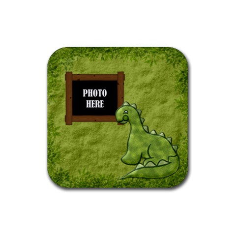 Prehistoric Coaster 1 By Lisa Minor   Rubber Coaster (square)   Cgdd1el3szi2   Www Artscow Com Front