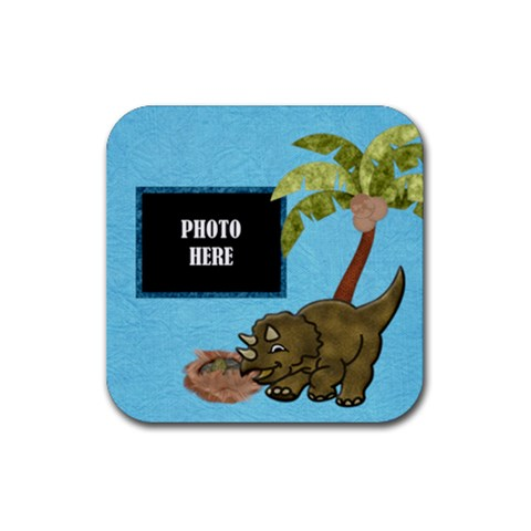Prehistoric Coaster 3 By Lisa Minor   Rubber Coaster (square)   9h51zlfd4m41   Www Artscow Com Front
