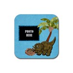 Prehistoric Coaster 3 - Rubber Coaster (Square)