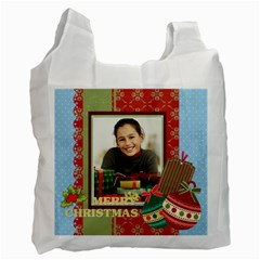 Merry Christmas By Merry Christmas   Recycle Bag (two Side)   Lk9cxq1oi6zp   Www Artscow Com Front