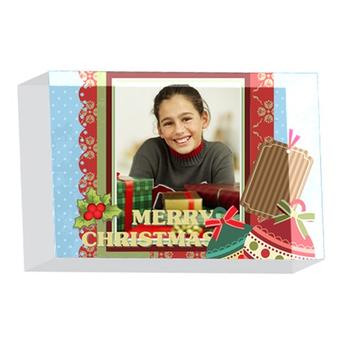Merry Christmas By Merry Christmas   4 x 6  Acrylic Photo Block   Oqfu6a4l3wwu   Www Artscow Com Front