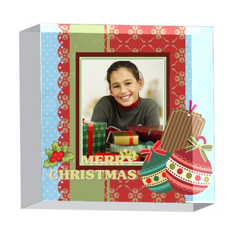 Merry Christmas By Merry Christmas   5  X 5  Acrylic Photo Block   68l3trfytjt6   Www Artscow Com Front
