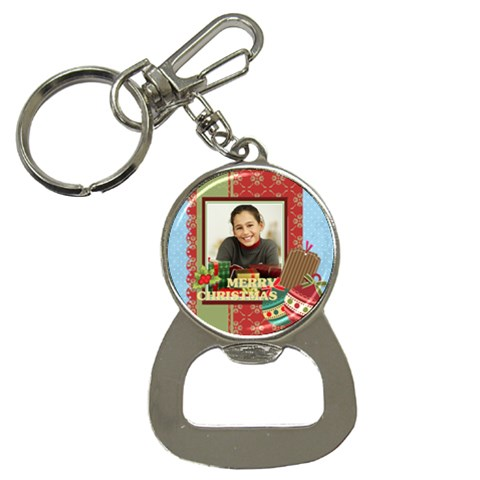Merry Christmas By Merry Christmas   Bottle Opener Key Chain   C080twmjv4k4   Www Artscow Com Front
