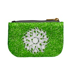 Basix Green Coin Bag By Lisa Minor   Mini Coin Purse   Db6m3z71gvw2   Www Artscow Com Back