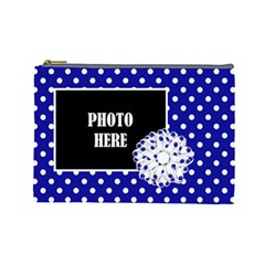 Basix Blue Large Cosmetic Bag By Lisa Minor   Cosmetic Bag (large)   B5vcng4m3or7   Www Artscow Com Front