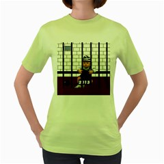 Baby in the jail Womens  T-shirt (Green) by Contest1632326