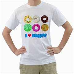 I Heart Donuts Mens  T Shirt (white) by Contest1632326