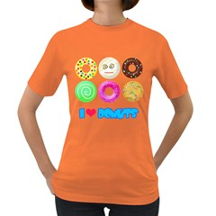 I Heart Donuts Womens' T Shirt (colored)