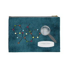 Learn Discover Explore Large Cosmetic Bag By Lisa Minor Back