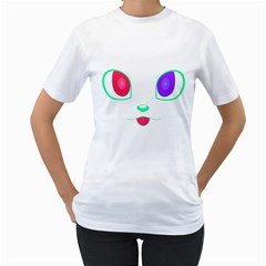 Cat Eyes Womens  T Shirt (white) by Contest1422604