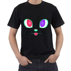 Cat Eyes Mens' T Shirt (black) by Contest1422604
