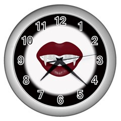 Vampire Inspired Wall Clock (silver) by Contest1553012