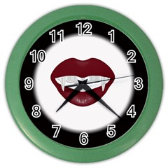 Vampire Inspired Wall Clock (color) by Contest1553012