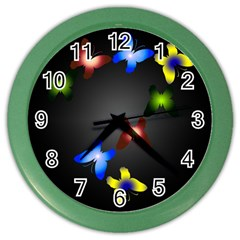 Butterfly Trail Wall Clock (color) by Contest1553012