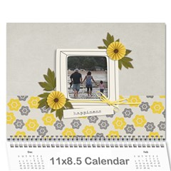 Wall Calendar 11 X 8 5   Happiness By Jennyl   Wall Calendar 11  X 8 5  (12 Months)   Zh4hy99eo96r   Www Artscow Com Cover