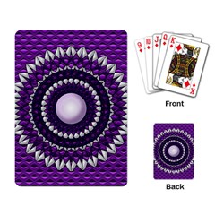 Purple Abstract Playing Cards Single Design