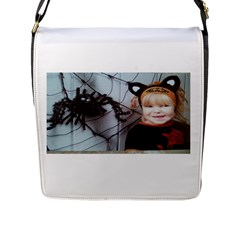 Spider Baby Flap Closure Messenger Bag (large) by tammystotesandtreasures