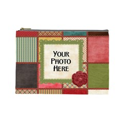 Thoughts Of Friendship Large Cosmetic Bag 1 By Lisa Minor   Cosmetic Bag (large)   4b1yssa57pkv   Www Artscow Com Front