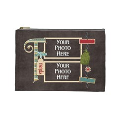 Thoughts Of Friendship Large Cosmetic Bag 5 By Lisa Minor   Cosmetic Bag (large)   Py0aifpg1mq9   Www Artscow Com Front