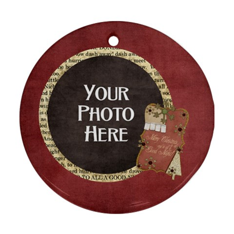And To All A Good Night Round Ornament 1 By Lisa Minor   Ornament (round)   Jui2x9zba84u   Www Artscow Com Front