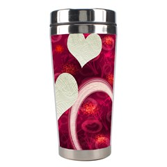 Pink Love Stainless Travel Tumbler By Ellan   Stainless Steel Travel Tumbler   Rq6rxvxxsmyq   Www Artscow Com Right