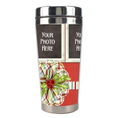 Happy Holidays Tumbler By Lisa Minor   Stainless Steel Travel Tumbler   Wb6iccb0pjog   Www Artscow Com Left