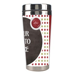 Peace  Joy Love Tumbler By Lisa Minor   Stainless Steel Travel Tumbler   9aveizb5pboz   Www Artscow Com Right