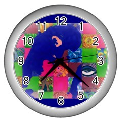Busy Work Wall Clock (silver) by JacklyneMae