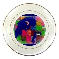 Busy Work Porcelain Display Plate by JacklyneMae