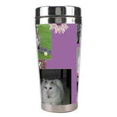 Purple Stainless Steel Travel Tumbler By Deborah   Stainless Steel Travel Tumbler   Ngz9yn08asvk   Www Artscow Com Center