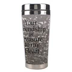 Friendship Stainless Steel Travel Tumbler By Deborah   Stainless Steel Travel Tumbler   B9rwa2yhqld4   Www Artscow Com Left