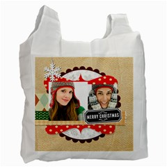Merry Christmas By Merry Christmas   Recycle Bag (two Side)   Godzfl1jufnx   Www Artscow Com Front