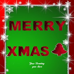 Our Merry Christmas 3d Card By Deborah   Merry Xmas 3d Greeting Card (8x4)   Lajgxn0q63ms   Www Artscow Com Inside