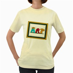 Sick Art  Womens  T Shirt (yellow)