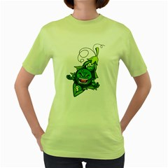 Peasmash Womens  T Shirt (green)