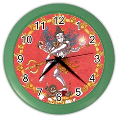 Shiva Wall Clock (Color) by Contest1732403