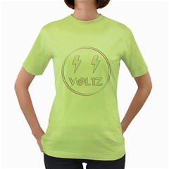 Voltz 3d Womens  T Shirt (green) by Contest1701949