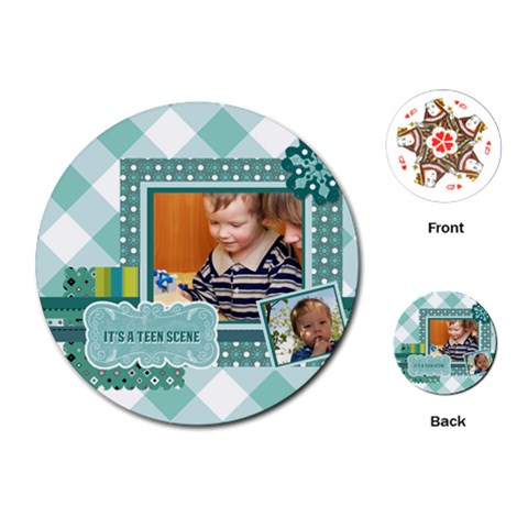 Kids By Kids   Playing Cards (round)   Xubvq8yrg7x7   Www Artscow Com Front