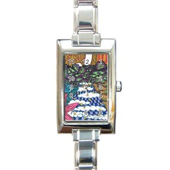 Out Of This World Rectangular Italian Charm Watch by JacklyneMae