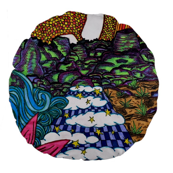Out of this World 18  Premium Round Cushion