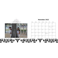 Desktop Calendar 11  X 5    B/w A Love Story By Jennyl   Desktop Calendar 11  X 5    3xug9eb7zpbq   Www Artscow Com Nov 2016