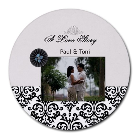 Mousepad  A Love Story By Jennyl   Round Mousepad   Qpsl7pz8x7ro   Www Artscow Com Front