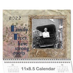 Family Tree Calendar   18 Month By Lil    Wall Calendar 11  X 8 5  (18 Months)   1sfjuutz0gyg   Www Artscow Com Cover