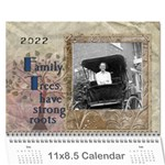 Family Tree Calendar - 18 Month - Wall Calendar 11 x 8.5 (18 Months)
