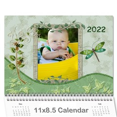 Nature Green 12 Month Wall Calendar By Lil    Wall Calendar 11  X 8 5  (12 Months)   D3oxkd5706s5   Www Artscow Com Cover