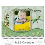 Nature Green 12 Month Wall Calendar - Wall Calendar 11  x 8.5  (12-Months)