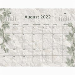 Nature Green 12 Month Wall Calendar By Lil    Wall Calendar 11  X 8 5  (12 Months)   D3oxkd5706s5   Www Artscow Com Aug 2019